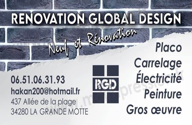 Logo de Renovation global design, société de travaux en Travaux divers