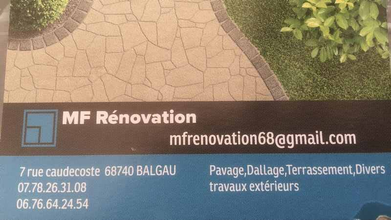 Logo de MF RENOVATION, société de travaux en Dallage ou pavage de terrasses