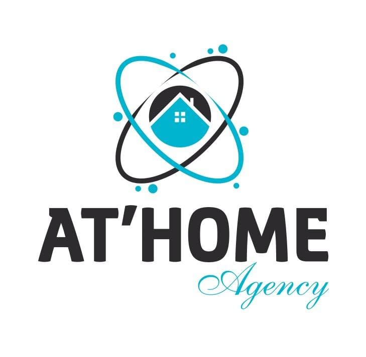 Logo de AT HOME AGENCY, société de travaux en Construction, murs, cloisons, plafonds