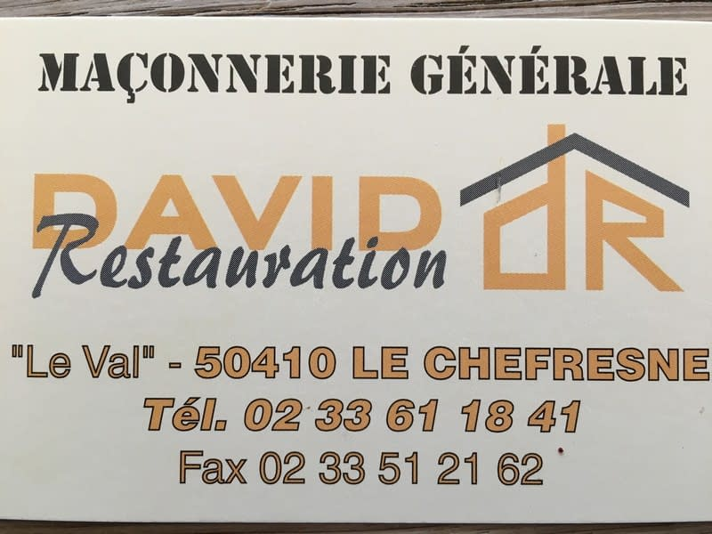 Logo de DAVID RESTAURATION, société de travaux en Construction de maison